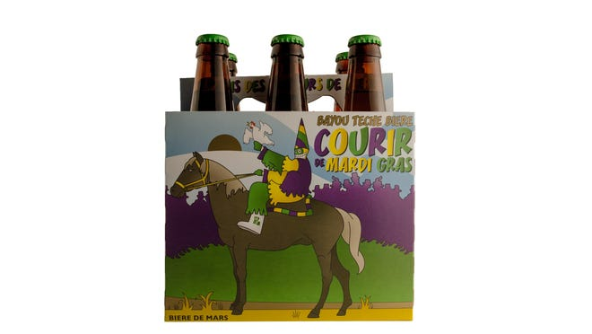 Bayou Teche Brewing's Courir de Mardi Gras is our artisanal version of the elegant French ale known as Biere de Mars. Courir de Mardi Gras is crafted with pilsner, munich and a large dose of wheat malt.