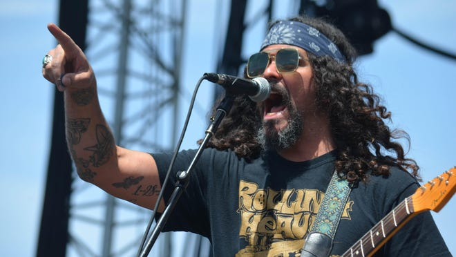 Joshua Tree resident Brant Bjork, seen here last April playing Coachella with his Low Desert Punk Band, will perform at a Desert Generator festival Saturday at Pappy and Harriet's saloon in Pioneertown.
