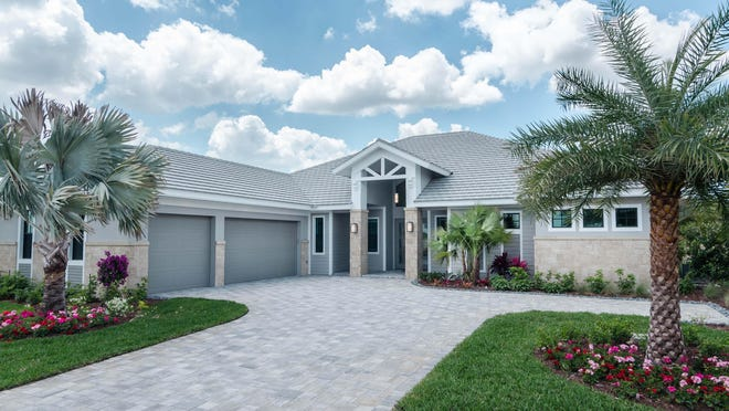 The Captiva offers 3,166 square feet of interior living space and an open floor plan emphasizing indoor and outdoor living.