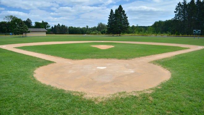 Baseball field on a summer day.