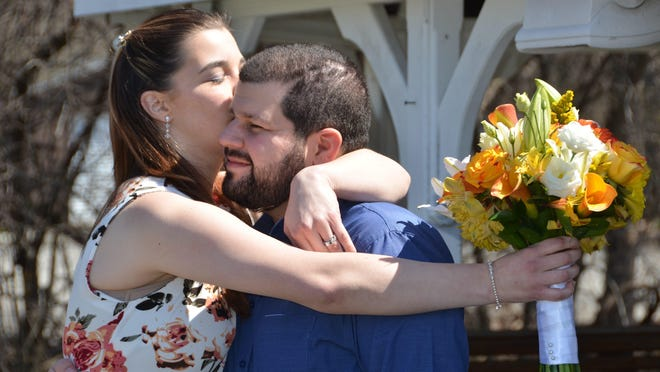 Ashley and Joe Grillo celebrae their wedding on April 6 in New Windsor.