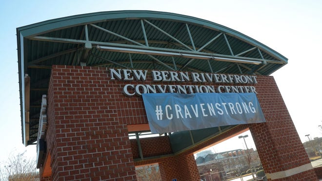 The New Bern Riverfront Convention Center will remain closed through September 1 for Phase 2 renovation work.