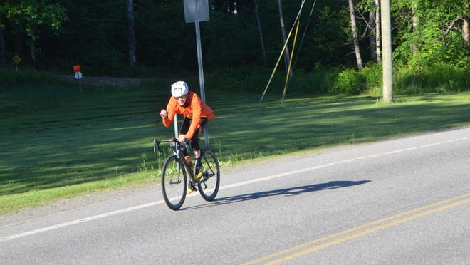 Just two days after his graduation from Oyster River High School, 17-year-old Luca Haines biked nearly 230 miles from the Canadian border through New Hampshire to raise money for the NAACP Legal Defense and Educational Fund.
