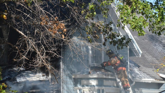 Newton Fire/EMS fought a fire Tuesday morning in the 300 block of West Sixth.