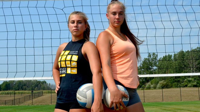 Hamilton's Jeralyn Hoppes (left) and AJ Ediger will be pivotal players this season.