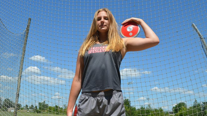 Former Zeeland East state champion Taylor Waterway has taken her strength to the college ranks.