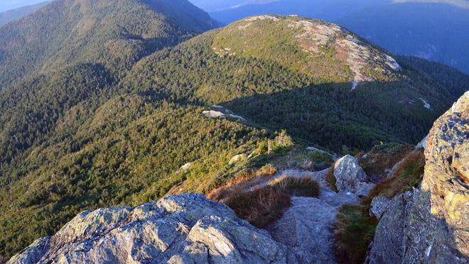 Mount Mansfield summit in late afternoon.