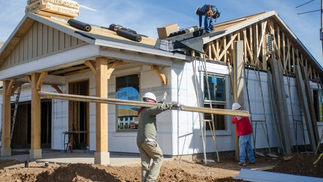 Valley home building fell in October even as the area's median new home price climbed.