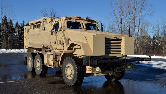 The St. Clair County Sheriff Department recently received a mine-resistant ambush protected vehicle, from the U.S. military.
