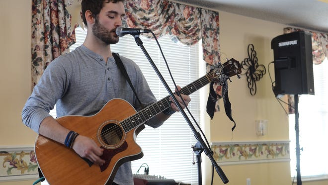 Alex Shier, past American Idol contestant from Fort Gratiot, performed at Mercy Village on Thursday