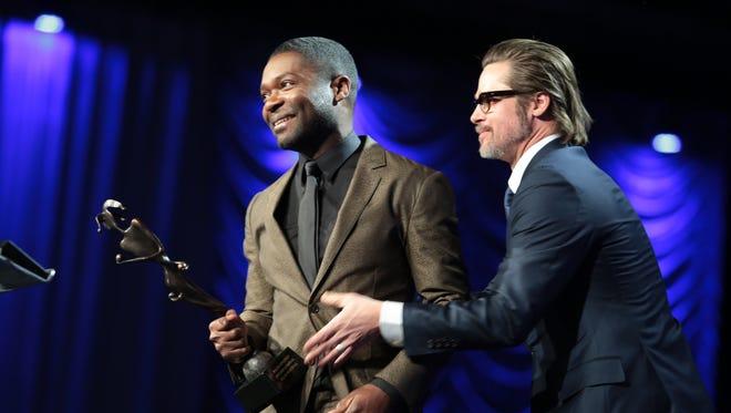 Brad Pitt presents David Oyelowo with Breakthrough Performance Award, Actor at PSIFF.