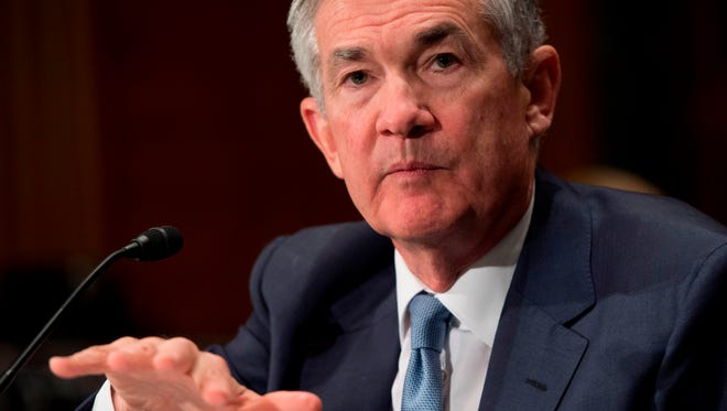 Federal Reserve Board Chairman Jerome Powell testifies during a Senate Banking, Housing and Urban Affairs Committee hearing on Capitol Hill in Washington, DC, March 1, 2018. / AFP PHOTO / SAUL LOEBSAUL LOEB/AFP/Getty Images ORIG FILE ID: AFP_11L0LA