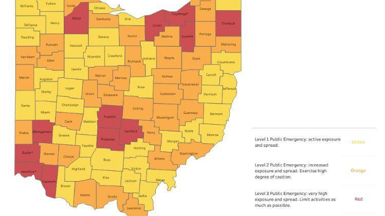Picture of: Coronavirus In Ohio What Happens If Your County Turns Purple On State S Alert Map