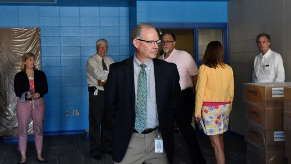 Brian Maher tours Sonia Sotomayor Elementary School