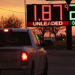 The price of gas is advertised at a fuel station on Jan. 20, 2016, in Andrews, Texas.