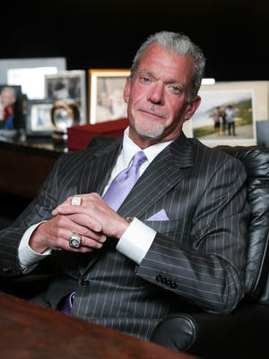 Indianapolis Colts owner Jim Irsay in his office last month.