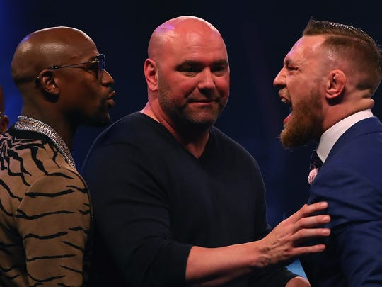 Dana White splits Floyd Mayweather Jr. and Conor McGregor