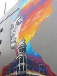 """Malinda"" – mural created by Hugo Medina and Darrin"