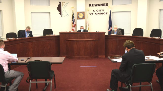 The Kewanee City Council chambers.