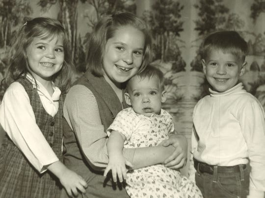 Photo taken by Tom Durgala, at home in 1964, of his children. From left: Teri (5), Tina (8), David (5 mo.) & Scott (4).
