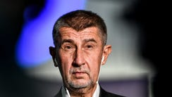 Andrej Babis in Prague on Oct. 21.