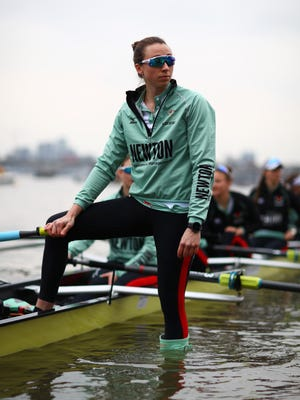 Watkins Glen native Olivia Coffey of Cambridge University looks on prior to the Cancer Research UK Boat Race on March 24 on the River Thames in London.