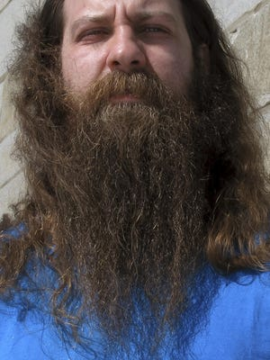 Bryan Sturge of Barre was the winner of the 2017 Vermont Beardies competition. Sturge says he grew his beard to honor his daughter who died of cancer in 2013 before her Make-a-Wish request to go to Disney World and swim with dolphins could be granted.
