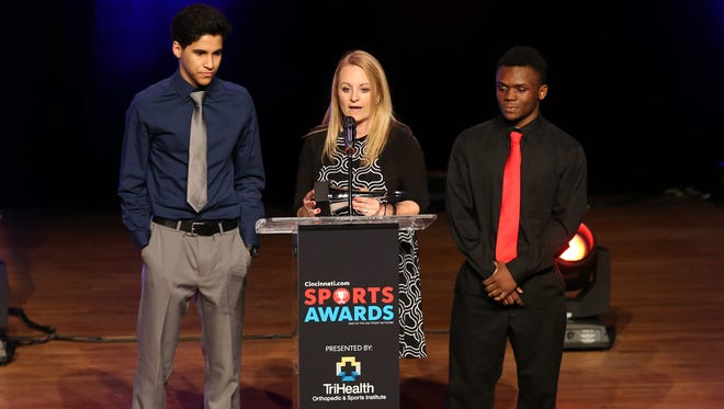 Jolinda Miller named Athletic Director of the Year during the 2018 Cincinnati.com Sports Awards, presented by TriHealth.