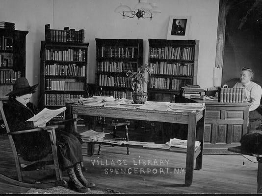 Ogden library in Spencerport Village Hall