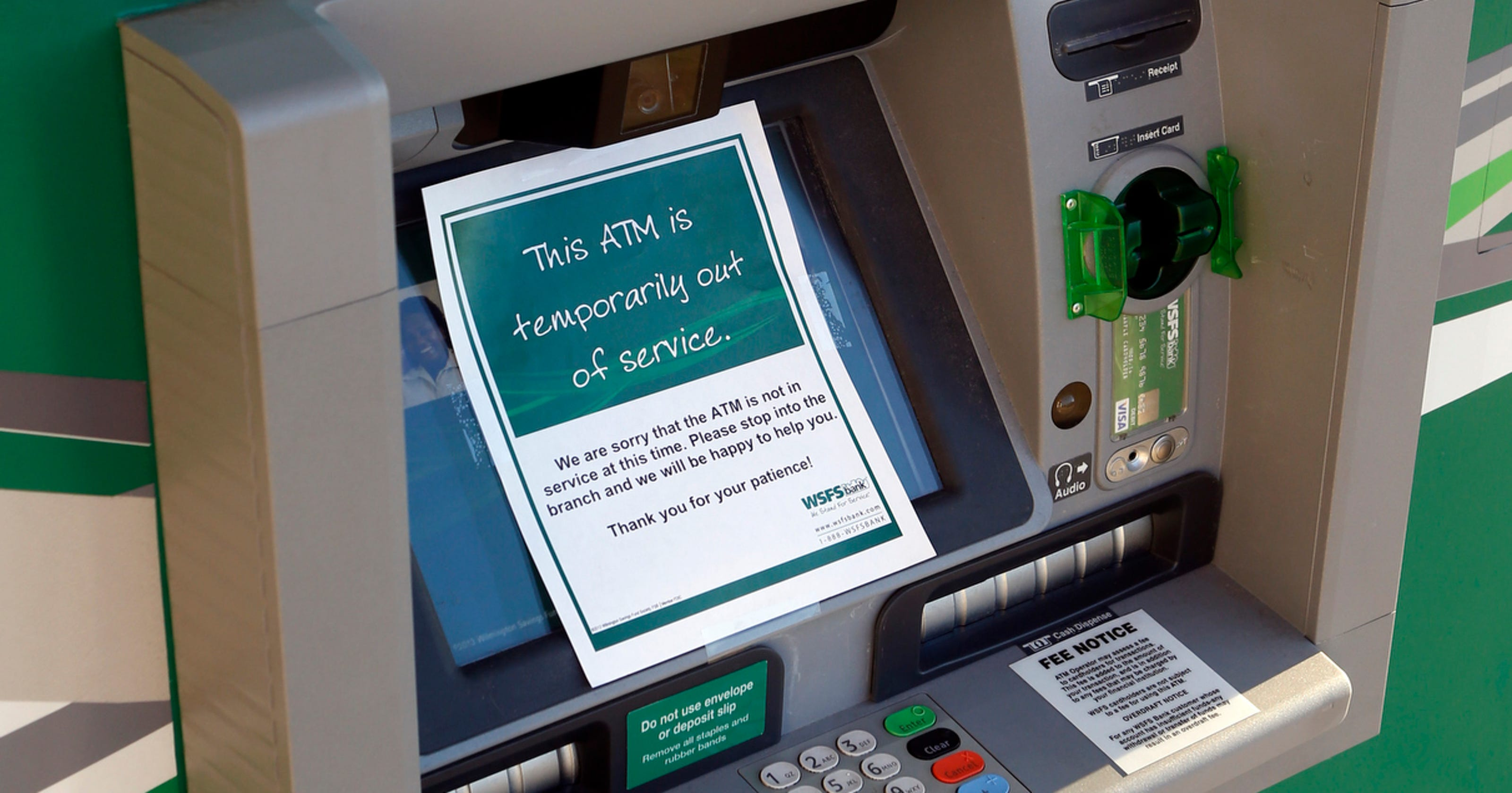 ATM skimmer used at WSFS in Prices Corner