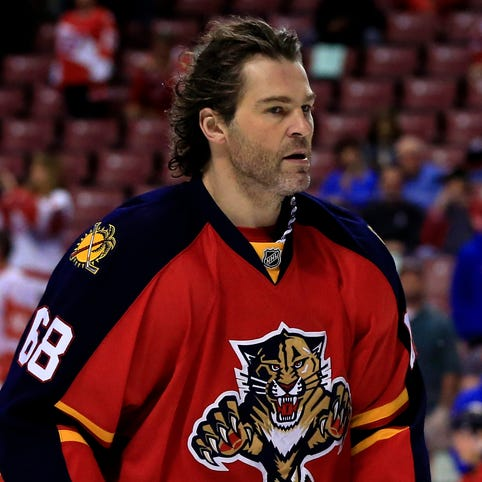 Florida Panthers right wing Jaromir Jagr has 16 goals and 37 points.