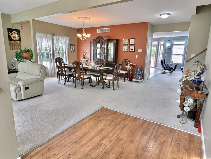 This 5K sq ft West Lafayette home has pond views from