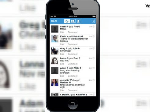 Venmo hooks up with your bank account, debit card or credit card.