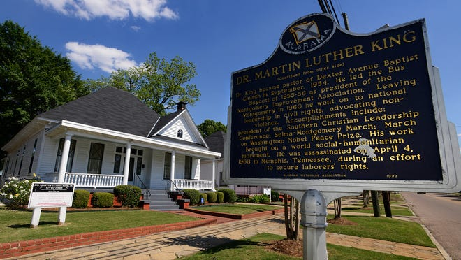 The Dexter Avenue King Memorial Baptist Church parsonage in Montgomery, Ala., on Thursday April 30, 2015. Martin Luther King, Jr., lived in the home during his time in Montgomery.