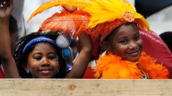 Young Summar Carnival parade participants.