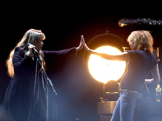 Stevie Nicks and Chrissie Hynde of The Pretenders. Stevie Nicks and the Pretenders perform Feb. 23 at the Reno Events Center.