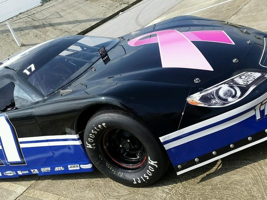 Quin Houff's new paint scheme came when he decided to partner with the Duke Cancer Institute to help raise awareness and money for cancer.