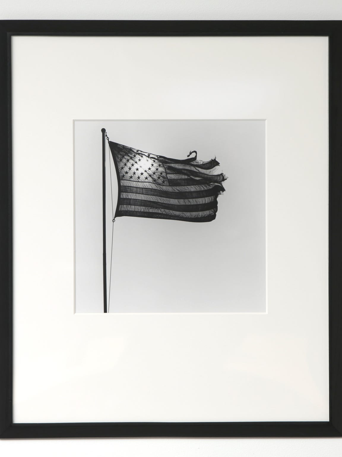 """American Flag,"" a 1977 photograph by Robert Mapplethorpe"