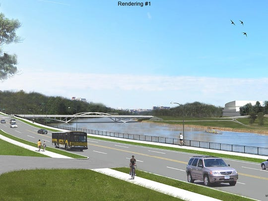 A design rendering shows what Dubuque Street and the