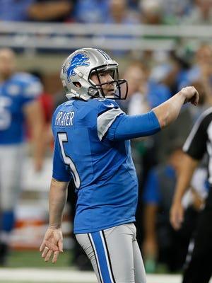 Lions kicker Matt Prater