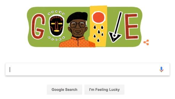 Google's tribute to Nigerian author Chinua Achebe,