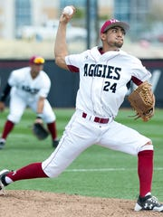 New Mexico State pitcher Marcel Renteria was drafted in the sixth round by the New York Mets.