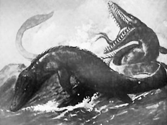 This artist's rendition of the mysterious sea creature appeared in the Dec. 27, 1887, edition of Scientific American.