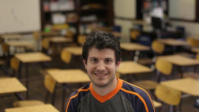 Clippert Academy 7th-grade math teacher Zachary Taylor.