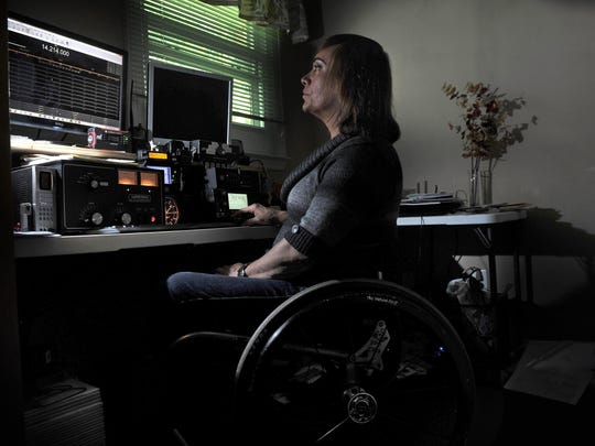 Robin Patty is a HAM radio operator and has transmitters in her bedroom in Murfreesboro on Tuesday, June 16, 2015.