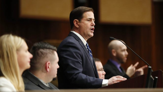 Gov. Doug Ducey's administrationhas hired outside consultants and added at least 85 state jobs thatcurrently pay on average $77,647 a year,records obtained by The Arizona Republic show.