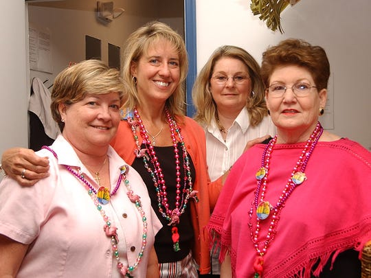 Rose Brous (right) with her supporters at a Queen Rose Brous Fundraiser at the Francis Scott Key Motel in February 2006.