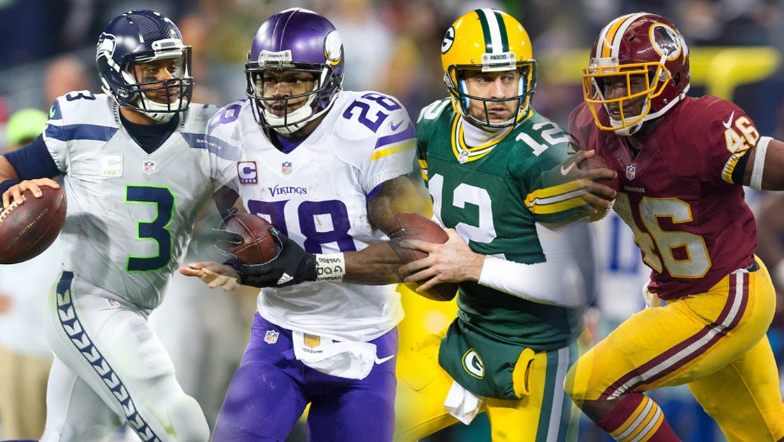 What time do the NFC wild-card games start on Sunday?