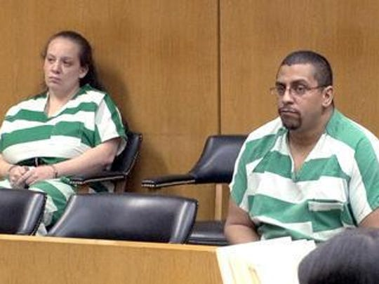 Giovanna and Michael Rojas appear in Superior Court in Ocean County in 2014.