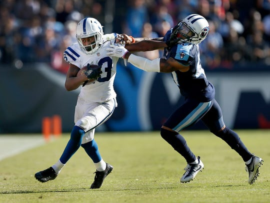 T.Y. Hilton is 10-0 in his career against the Tennessee Titans.